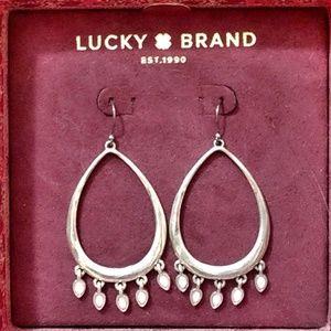 Lucky Brand Silver Chandelier Teardrop Earrings
